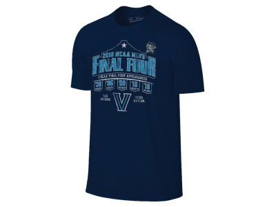 Villanova Wildcats 2018 NCAA Men's Final Four Appearances T-Shirt