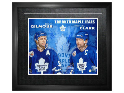 Toronto Maple Leafs Wendel Clark Frameworth Dual-Signed 11x14 Framed Photograph