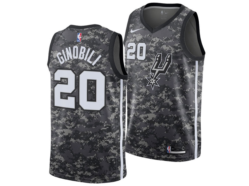 San Antonio Spurs Manu Ginobili Nike 2018 NBA Men s City Swingman Jersey  113793243