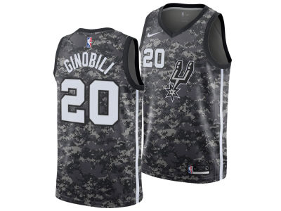 San Antonio Spurs Manu Ginobili Nike 2018 NBA Men's City Swingman Jersey