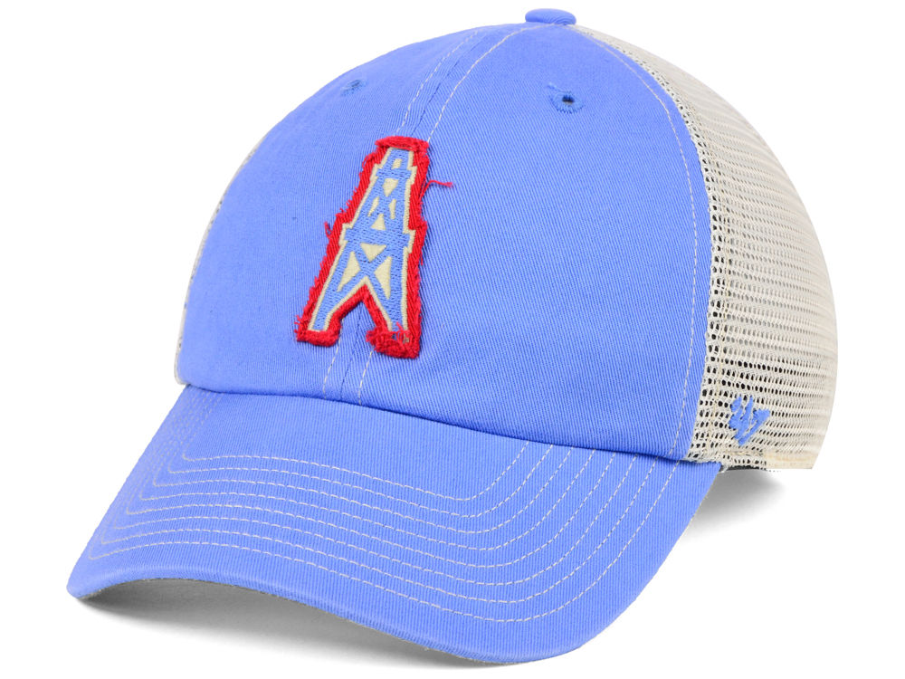 Houston Oilers  47 NFL Canyon Mesh CLEAN UP Cap  89c127e7f9d