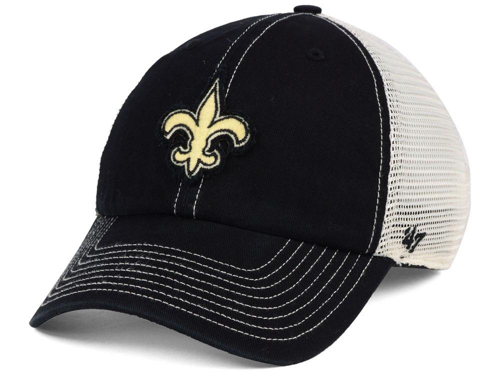 b0c66103591 New Orleans Saints  47 NFL Canyon Mesh CLEAN UP Cap