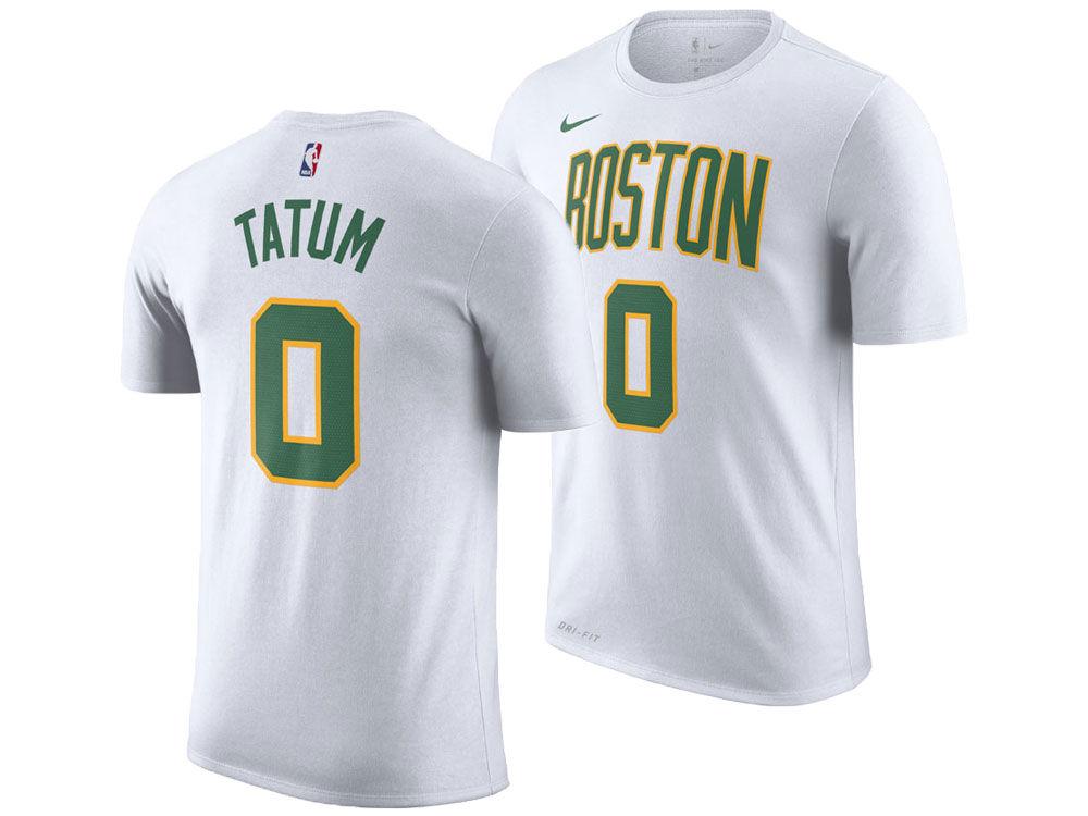 Boston Celtics Jayson Tatum Nike 2018 NBA Men s City Player T-shirt ... 8fbaf145f