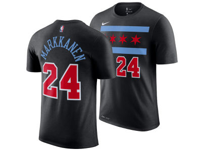 Chicago Bulls Lauri Markkanen Nike 2018 NBA Men's City Player T-shirt