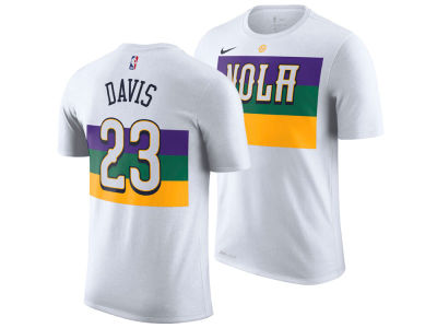 New Orleans Pelicans Anthony Davis Nike 2018 NBA Men's City Player T-shirt