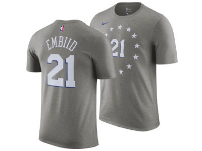 Philadelphia 76ers Joel Embiid Nike 2018 NBA Men's City Player T-shirt