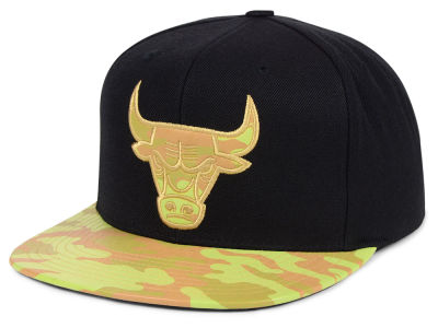 Chicago Bulls Mitchell & Ness NBA Natural Camo Snapback Cap