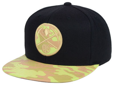 Denver Nuggets Mitchell & Ness NBA Natural Camo Snapback Cap