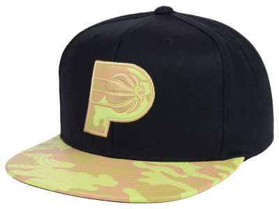 Indiana Pacers Mitchell & Ness NBA Natural Camo Snapback Cap