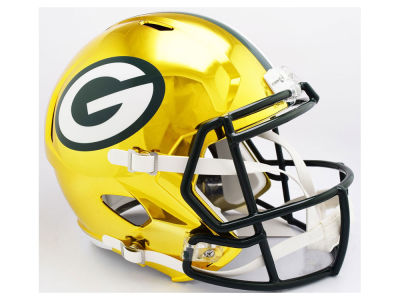 Green Bay Packers Riddell NFL Speed Chrome Alternate Replica Helmet