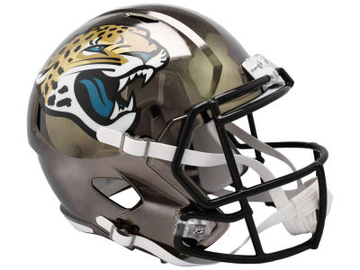 Jacksonville Jaguars Riddell NFL Speed Chrome Alternate Replica Helmet