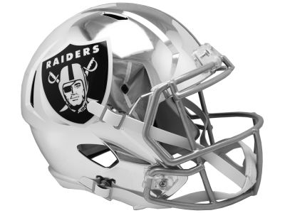 Oakland Raiders Riddell NFL Speed Chrome Alternate Replica Helmet