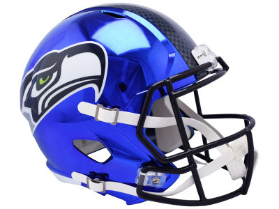 Seattle Seahawks Riddell NFL Speed Chrome Alternate Replica Helmet