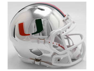 Miami Hurricanes Riddell Speed Chrome Alt Mini Helmet