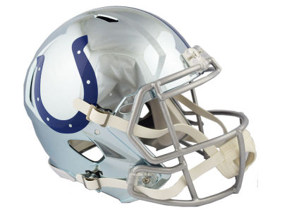 Indianapolis Colts Riddell NFL Speed Chrome Alternate Authentic Helmet