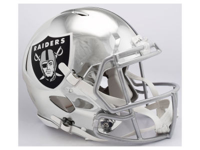 Oakland Raiders Riddell NFL Speed Chrome Alternate Authentic Helmet
