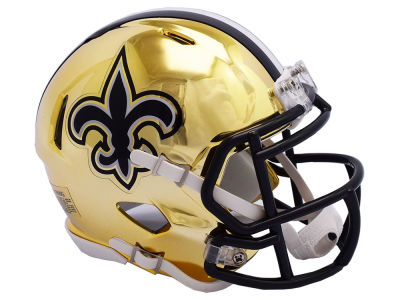 New Orleans Saints Riddell Speed Chrome Alt Mini Helmet