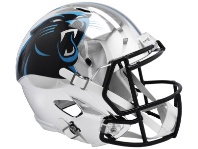Carolina Panthers Riddell NFL Speed Chrome Alternate Replica Helmet
