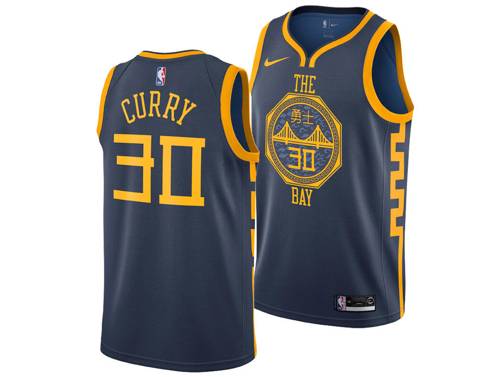 Golden State Warriors Stephen Curry Nike 2018 NBA Youth City Edition  Swingman Jersey  777b6d2ba