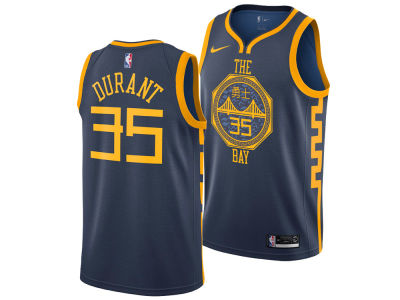 Golden State Warriors Kevin Durant Nike 2018 NBA Youth City Edition Swingman Jersey