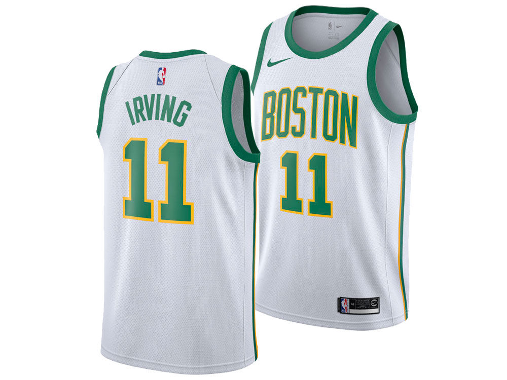Boston Celtics Kyrie Irving Nike 2018 NBA Youth City Edition Swingman Jersey   8c70417c6