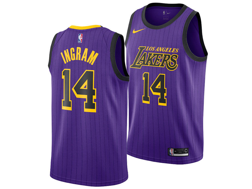 Los Angeles Lakers Brandon Ingram Nike 2018 NBA Youth City Edition Swingman  Jersey  1d9435e0bdda