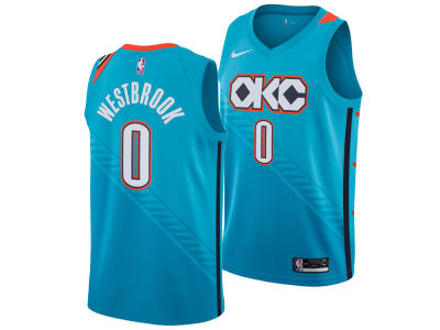 Oklahoma City Thunder Russell Westbrook Nike 2018 NBA Youth City Edition Swingman Jersey