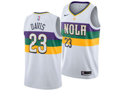 New Orleans Pelicans Anthony Davis Nike 2018 NBA Youth City Edition Swingman Jersey