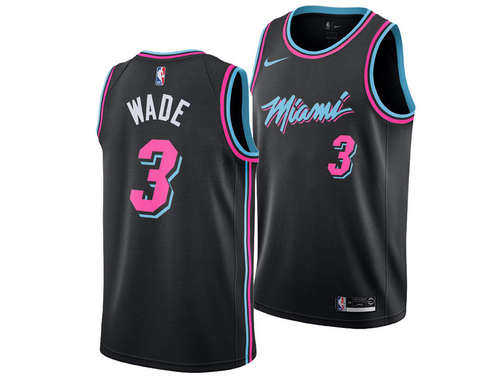 Miami Heat Dwyane Wade Nike 2018 NBA Youth City Edition Swingman Jersey  a7e65a750