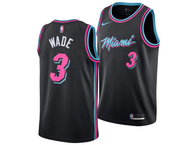 Miami Heat Dwyane Wade Nike 2018 NBA Youth City Edition Swingman Jersey f9f5ed51306da
