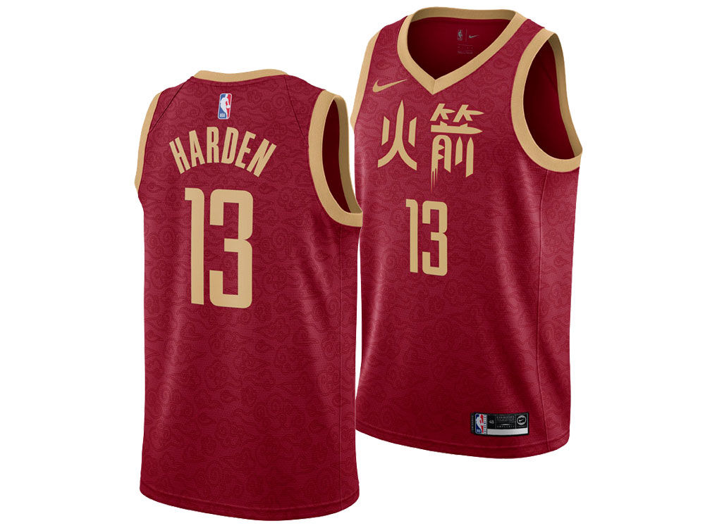 6fe6e94b8 Houston Rockets James Harden Nike 2018 NBA Youth City Edition Swingman  Jersey