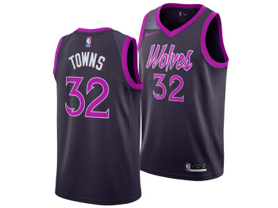 Minnesota Timberwolves Karl-Anthony Towns Nike 2018 NBA Youth City Edition Swingman Jersey