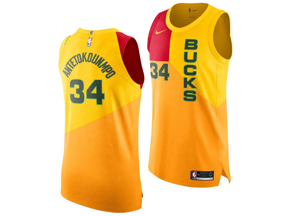 Milwaukee Bucks Giannis Antetokounmpo Nike 2018 NBA Youth City Edition  Swingman Jersey  7e95bda8e