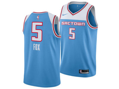 Sacramento Kings DeAaron Fox Nike 2018 NBA Youth City Edition Swingman Jersey