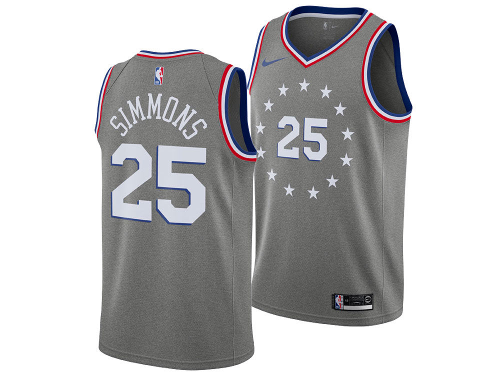 Philadelphia 76ers Ben Simmons Nike 2018 NBA Youth City Edition Swingman  Jersey  4c886d59e