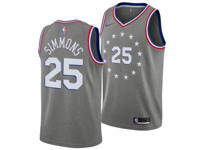 7822584f3 Philadelphia 76ers Ben Simmons Nike 2018 NBA Youth City Edition Swingman  Jersey