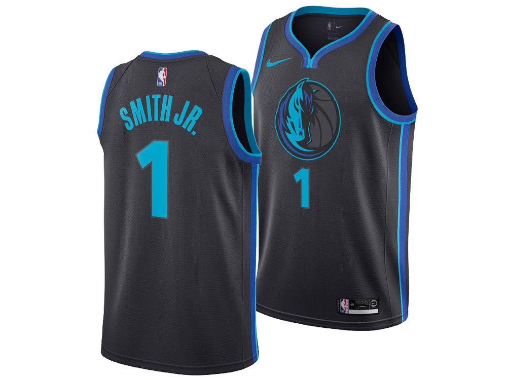 01a7e2e13 Dallas Mavericks Dennis Smith Nike 2018 NBA Youth City Edition Swingman  Jersey