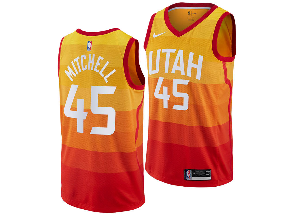 Utah Jazz Donovan Mitchell Nike 2018 NBA Youth City Edition Swingman Jersey   74f09806123b