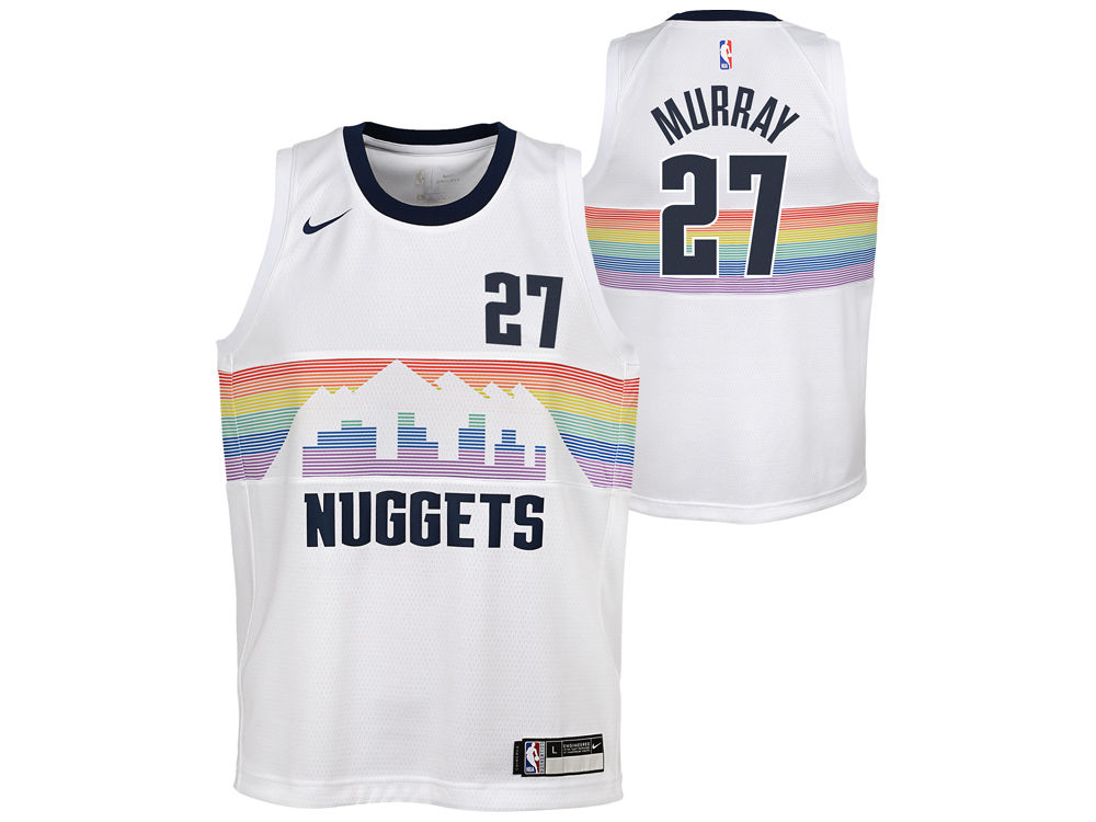 ... white pink womens nba swingman fashion jersey 804b0 cheap denver  nuggets jamal murray nike 2018 nba youth city edition swingman jersey b4e1d  2d7a0 ... 0c81a0b07