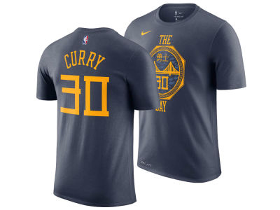 Golden State Warriors Stephen Curry Nike 2018 NBA Youth City Edition T-Shirt