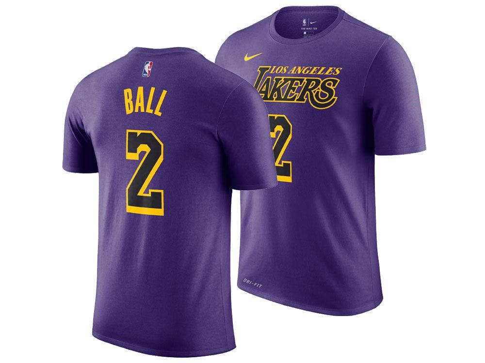 Los Angeles Lakers Lonzo Ball Nike 2018 NBA Youth City Edition T-Shirt  bebc5c368