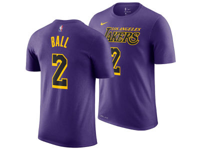 Los Angeles Lakers Lonzo Ball Nike 2018 NBA Youth City Edition T-Shirt