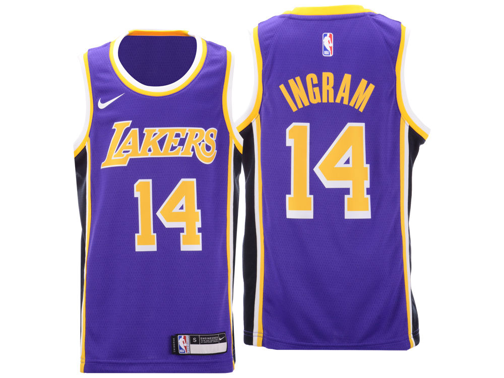Los Angeles Lakers Brandon Ingram Nike NBA Youth Statement Swingman Jersey   01daae84a34b