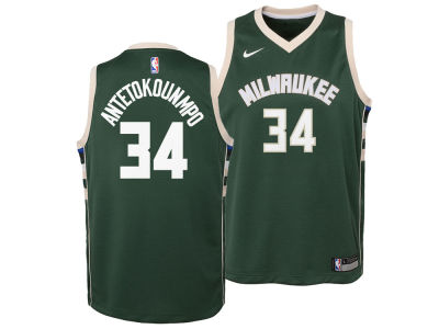 Milwaukee Bucks Giannis Antetokounmpo Nike NBA Kids Icon Replica Jersey