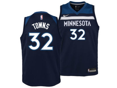 Minnesota Timberwolves Karl-Anthony Towns Nike NBA Kids Icon Replica Jersey