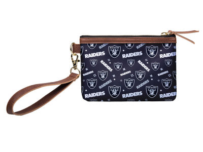 Oakland Raiders Printed Collection Wristlet