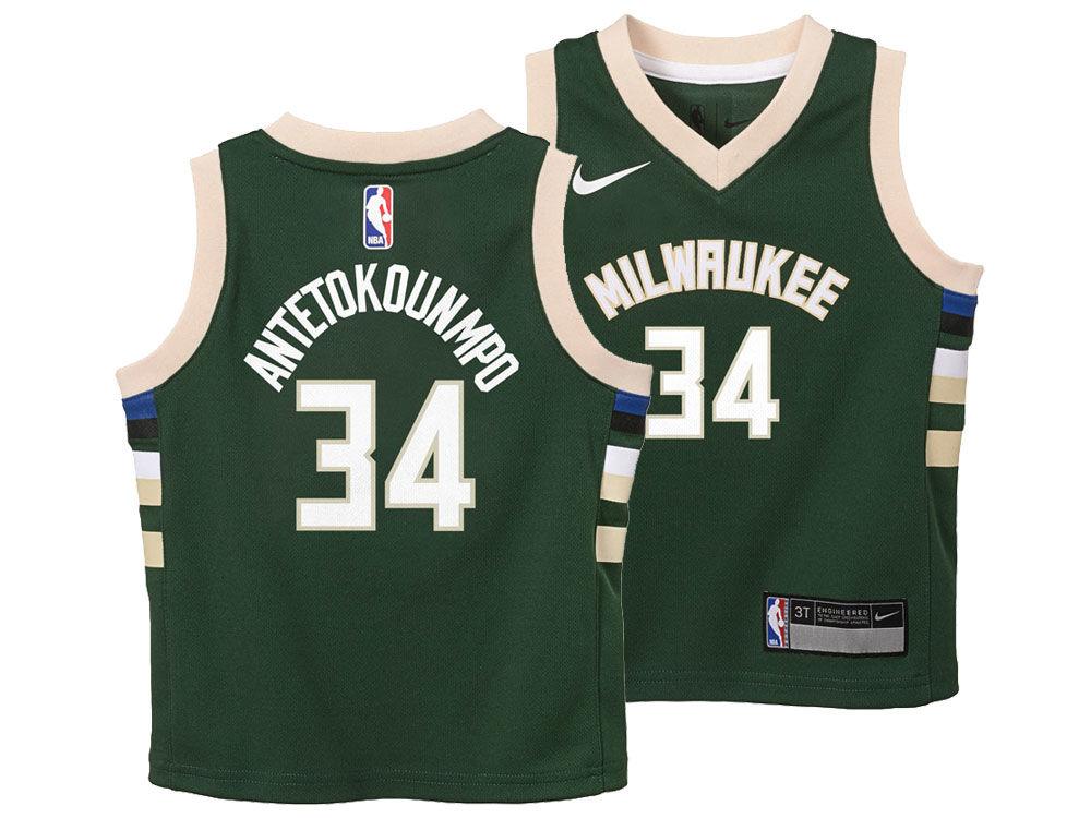 Milwaukee Bucks Giannis Antetokounmpo Nike NBA Toddler Icon Replica Jersey   3cb1a8c9455c