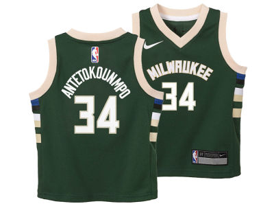 Milwaukee Bucks Giannis Antetokounmpo Nike NBA Toddler Icon Replica Jersey
