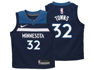 Minnesota Timberwolves Karl-Anthony Towns Nike NBA Toddler Icon Replica Jersey