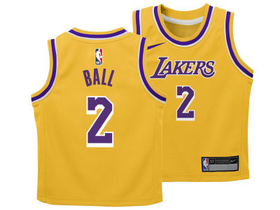 Los Angeles Lakers Lonzo Ball Nike NBA Infant Icon Replica Jersey